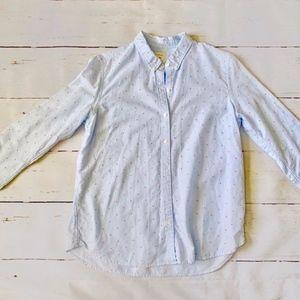 ✨Gap Fitted Boyfriend Shirt